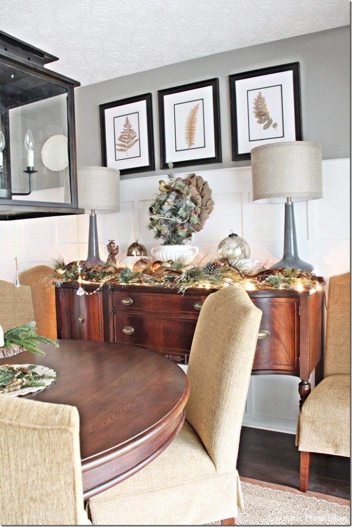 dining room Christmas sideboard