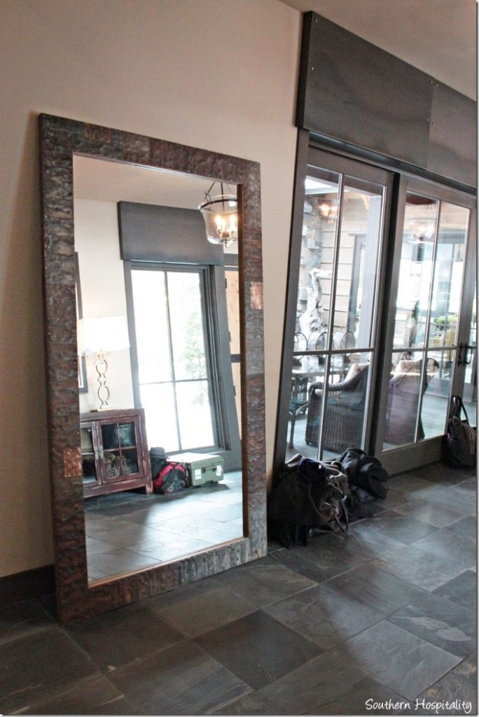 foyer leaning mirror