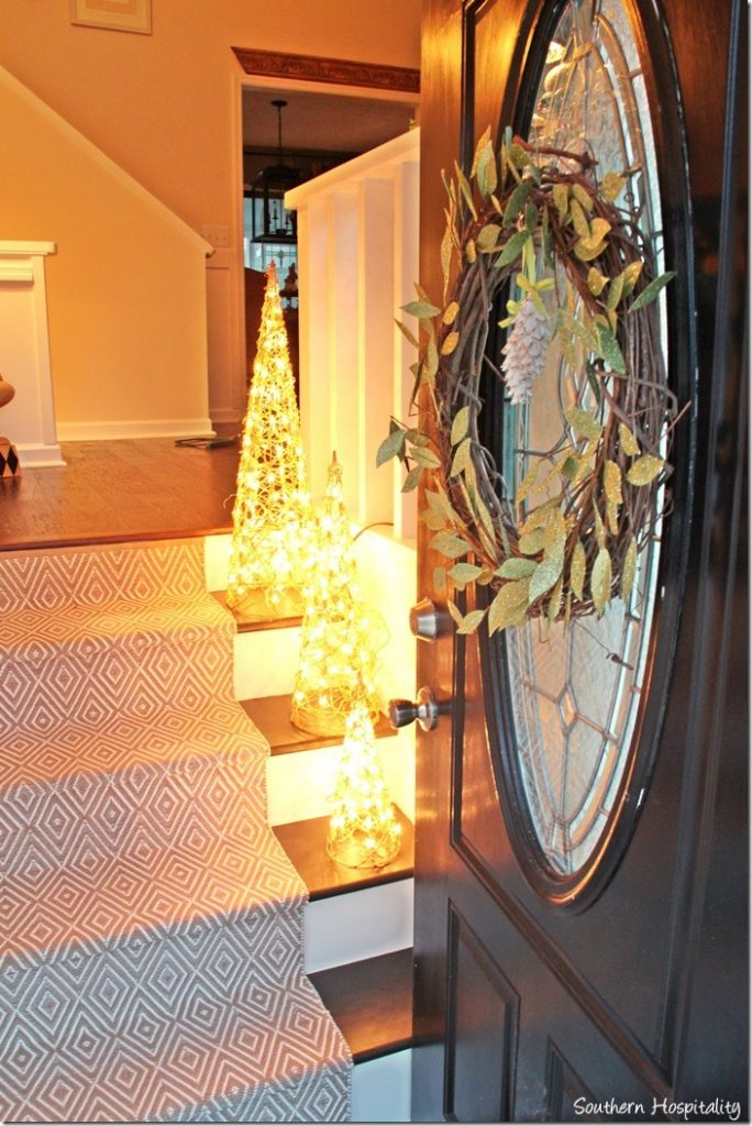 Christmas decorating ideas with pier one giveaway for 12 light front door
