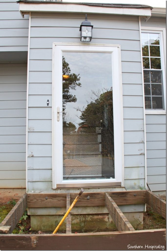 front door before new porch build