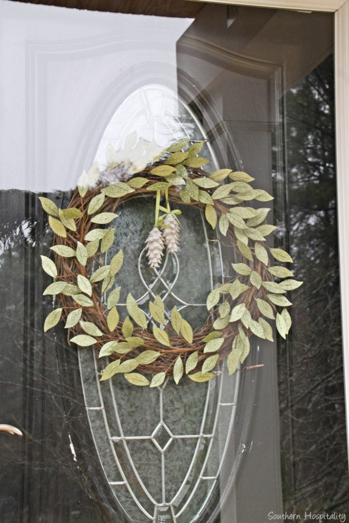 Making A Diy Christmas Grapevine Wreath Southern Hospitality
