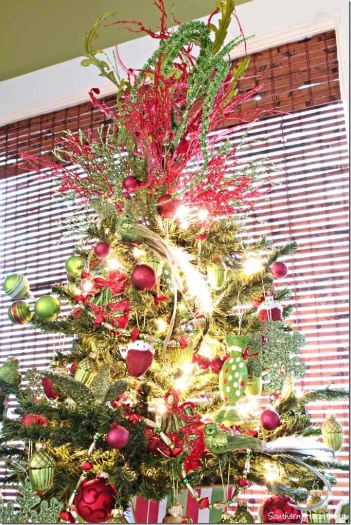 red green tree topper