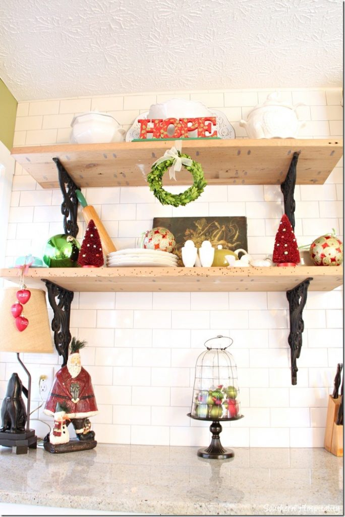rustic shelves