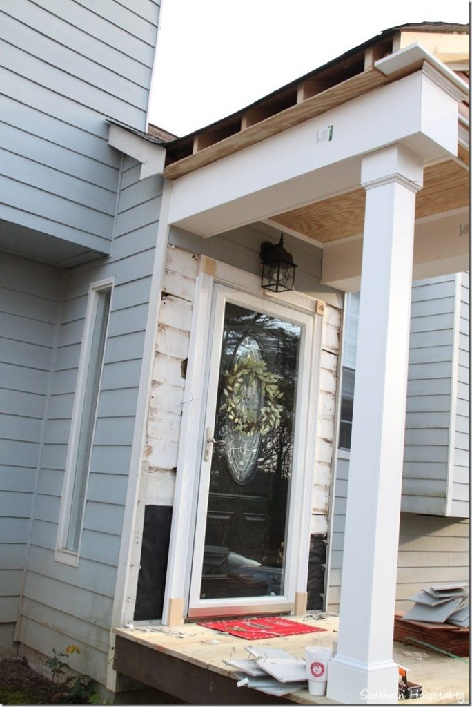 side view porch trim