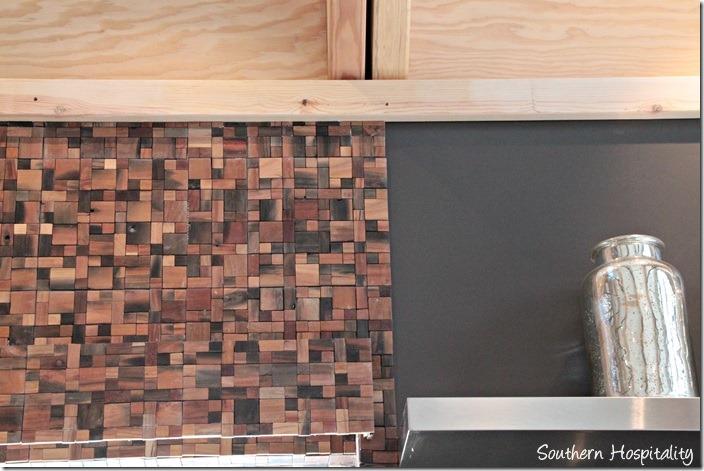 wood tile on wall
