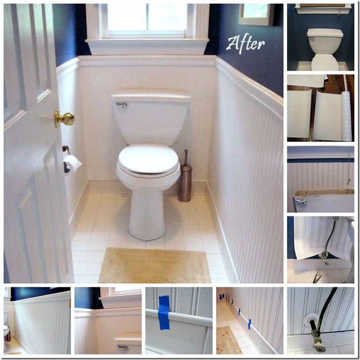 Optimal Usage Of Space And Items For Small Bathroom Ideas: How To Use Beadboard Wallpaper
