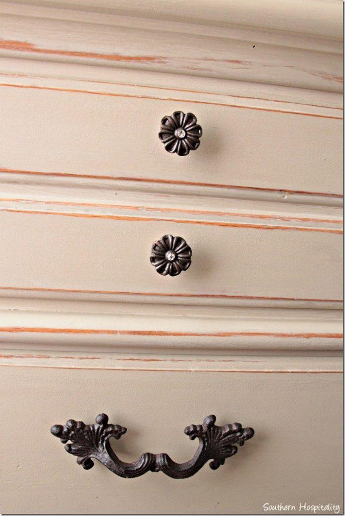 dresser in guest room