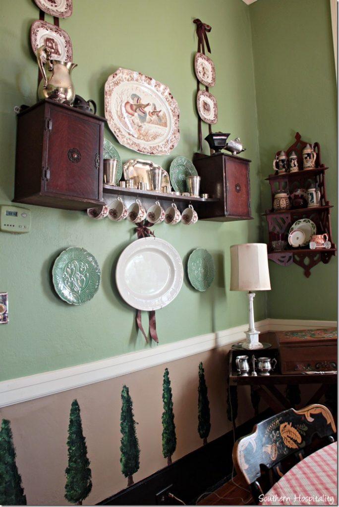 green dining walls