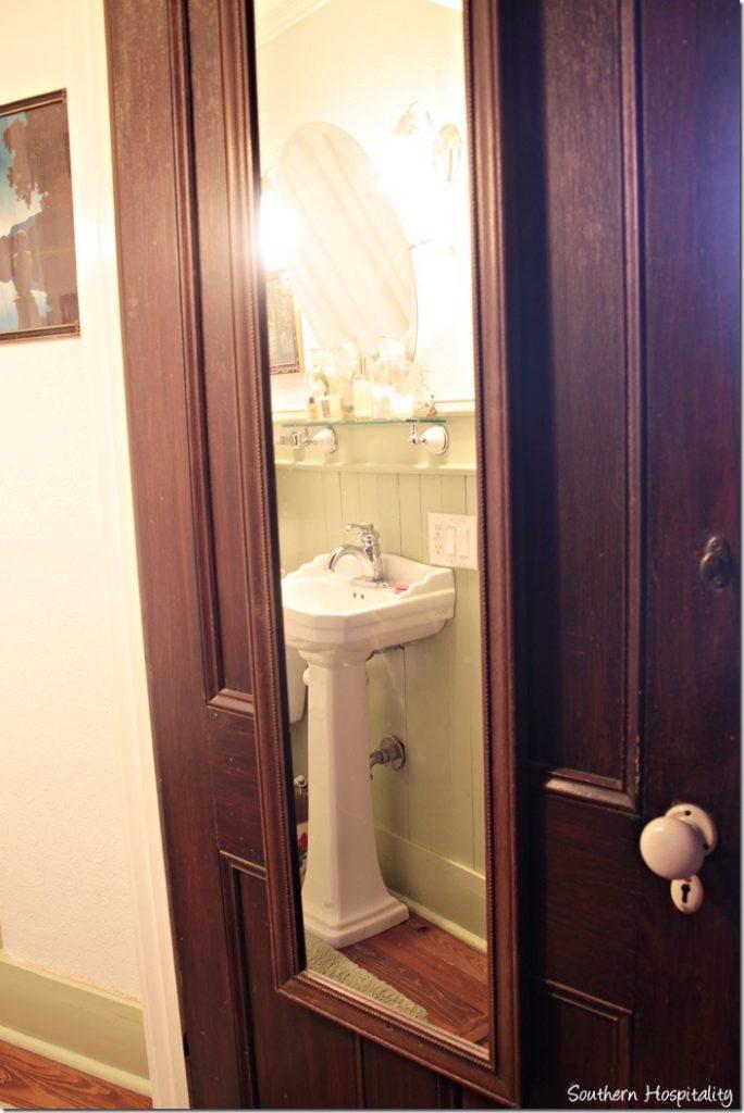guest bath door