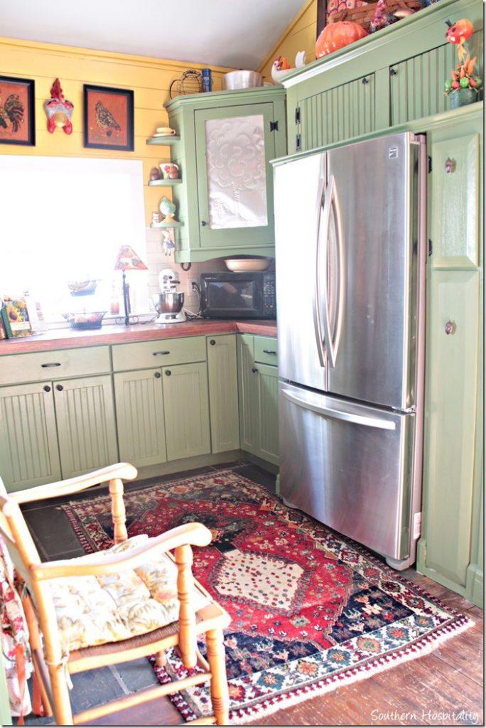 kitchen cabinets fridge
