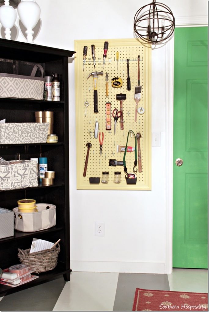 pegboard on wall