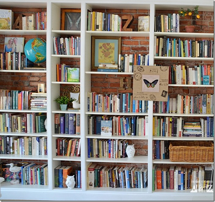 Wall Of Bookshelves den project: built in billy bookcase ideas - southern hospitality