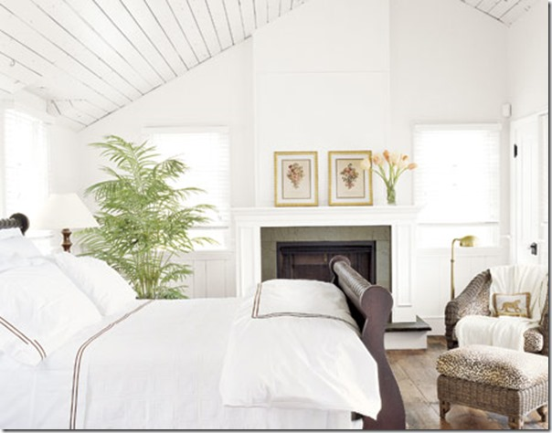 all white bedrooms with pops of color online