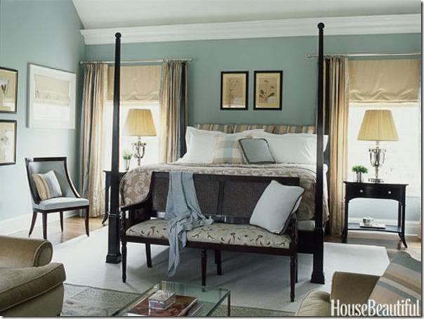 Defining Your Decorating Style Southern Hospitality - White bedrooms with dark furniture