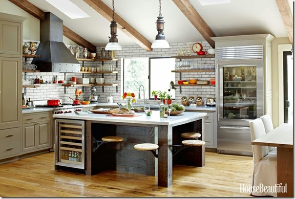house beautiful rustic kitchen