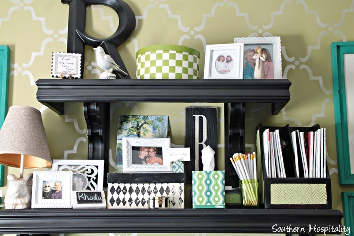 Adding color to decor southern hospitality - My Office Space With Shades Of Blues And Greens Is An Easy Area To Add