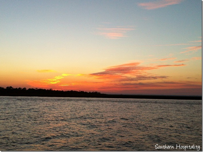 sunset on Tybee dock