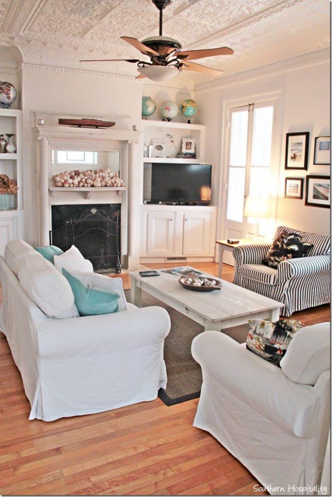 Popular white caps living room