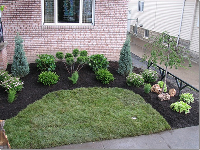 Starting a landscape plan the basics southern hospitality for Simple front landscape ideas