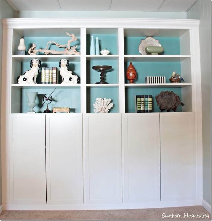 billy bookcases built in