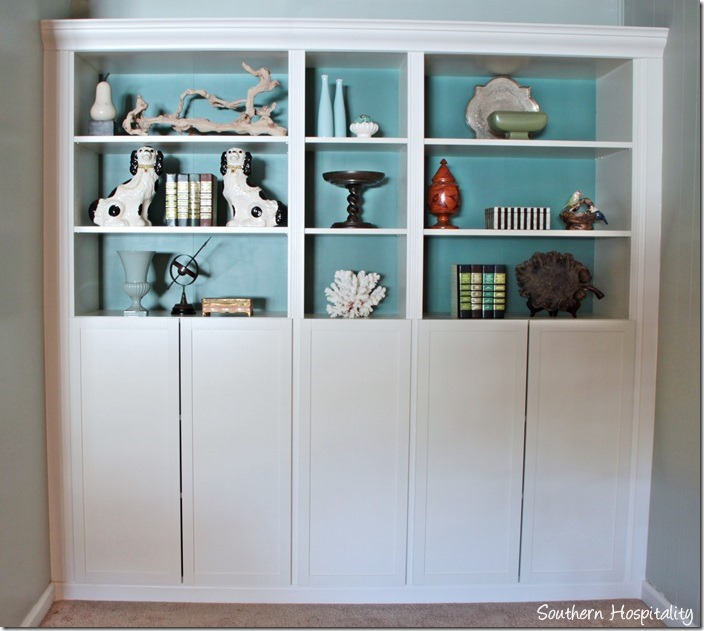 Part 2 Building in Ikea Billy Bookcases with Molding Southern