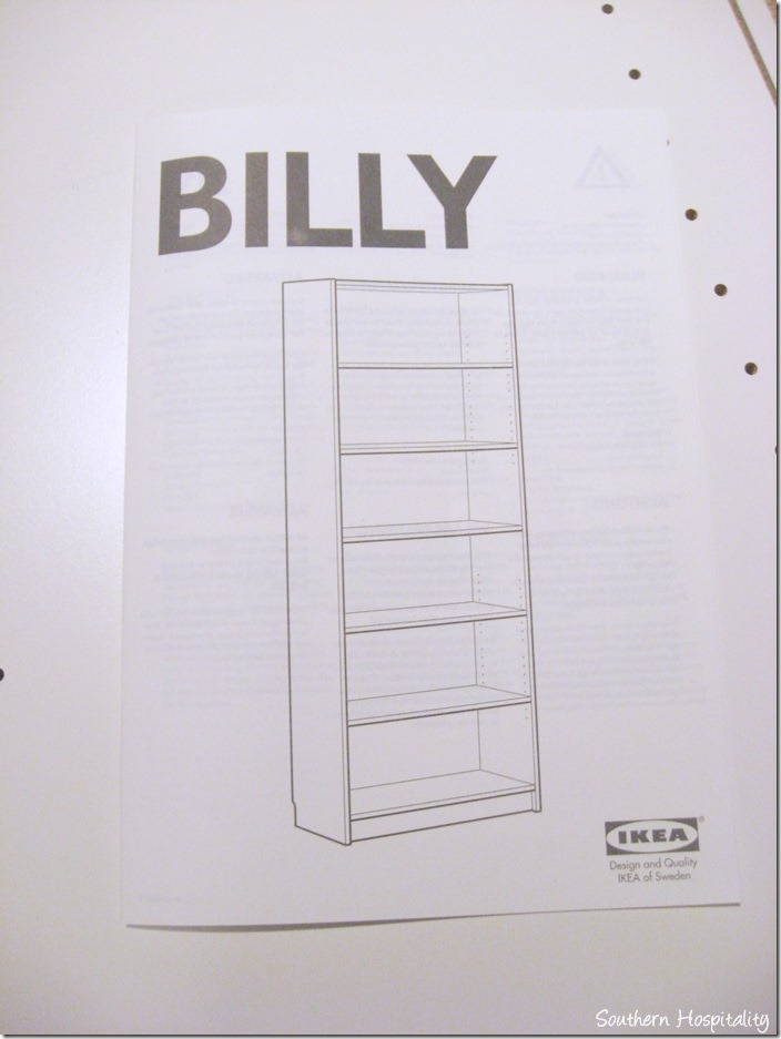 putting together ikea billy bookcase southern hospitality