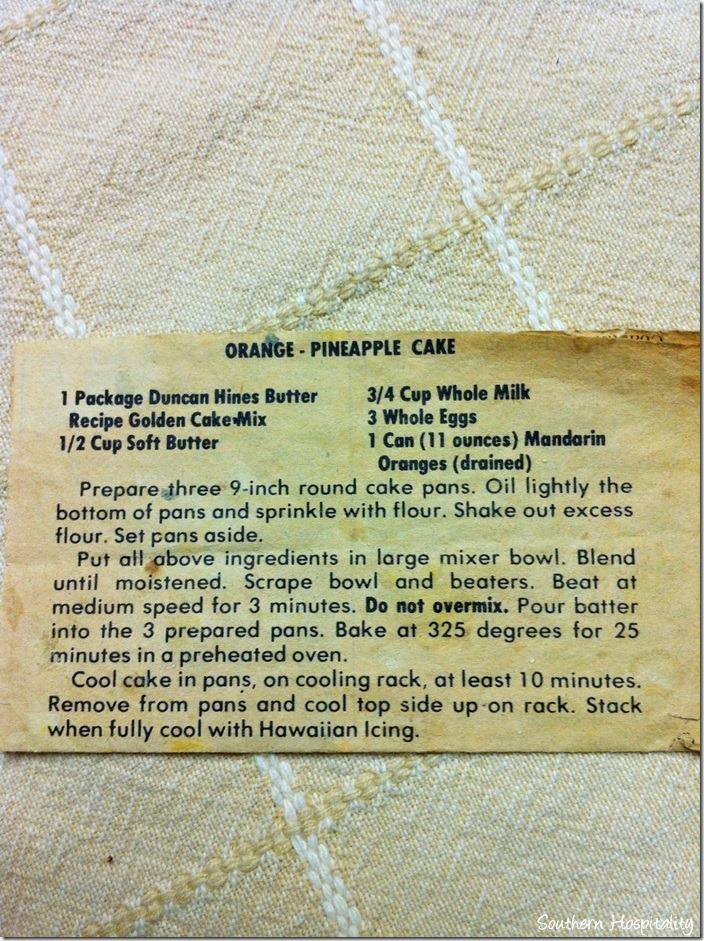 Mandarin orange pineapple cake recipe