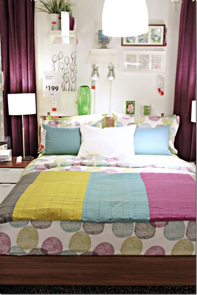 colorful bedding ikea