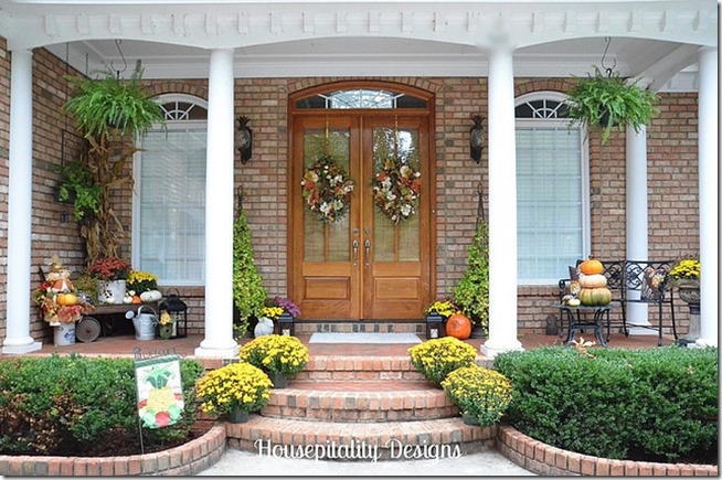 Feature friday housepitality designs southern hospitality Beautiful fall front porches