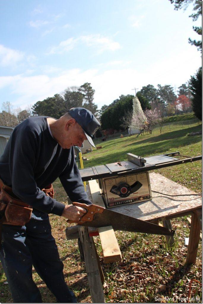 sawing 2x4