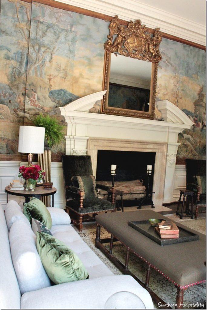 grand salon fireplace
