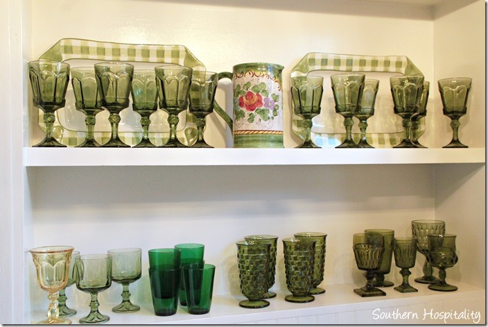 kitchen green dishware