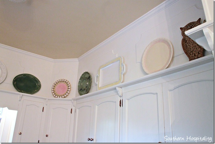 plates in kitchen