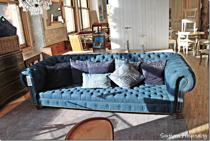 ralph lauren navy sofa