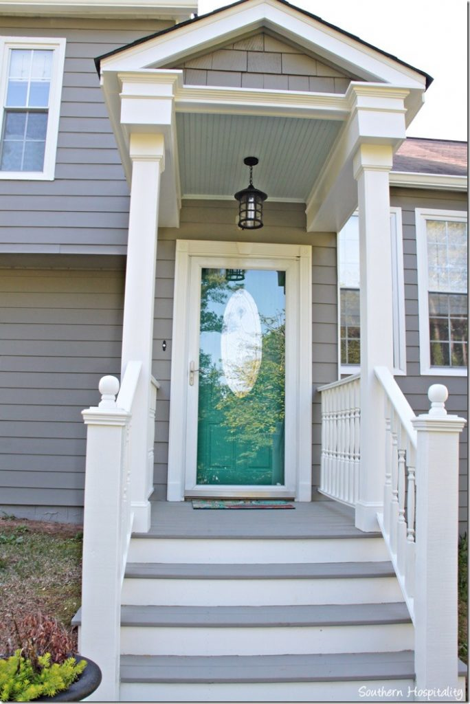 front porch painted