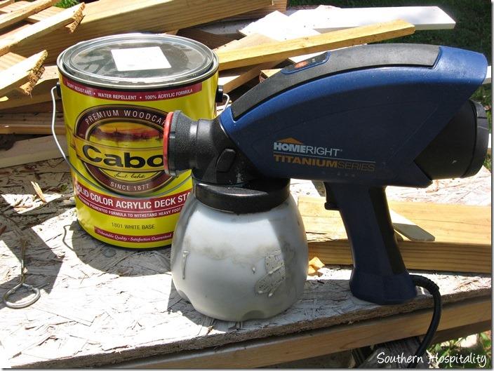 homeright paint sprayer filled