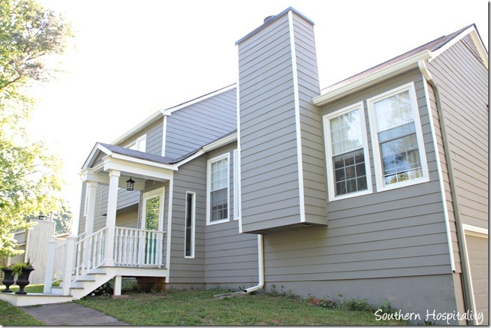 Exterior paint makeover southern hospitality for Sherwin williams dovetail gray exterior