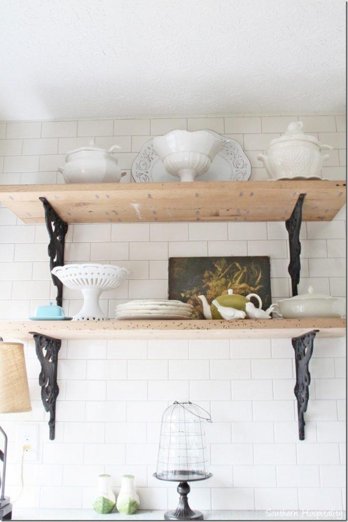 kitchen Rustic shelves2