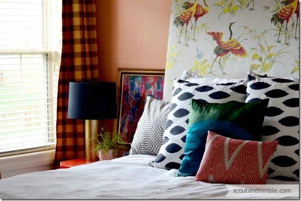 peach-walls-upholstered-headboard