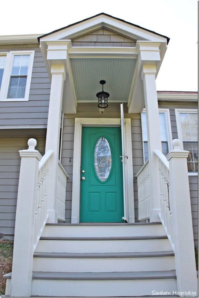 pop of color front door