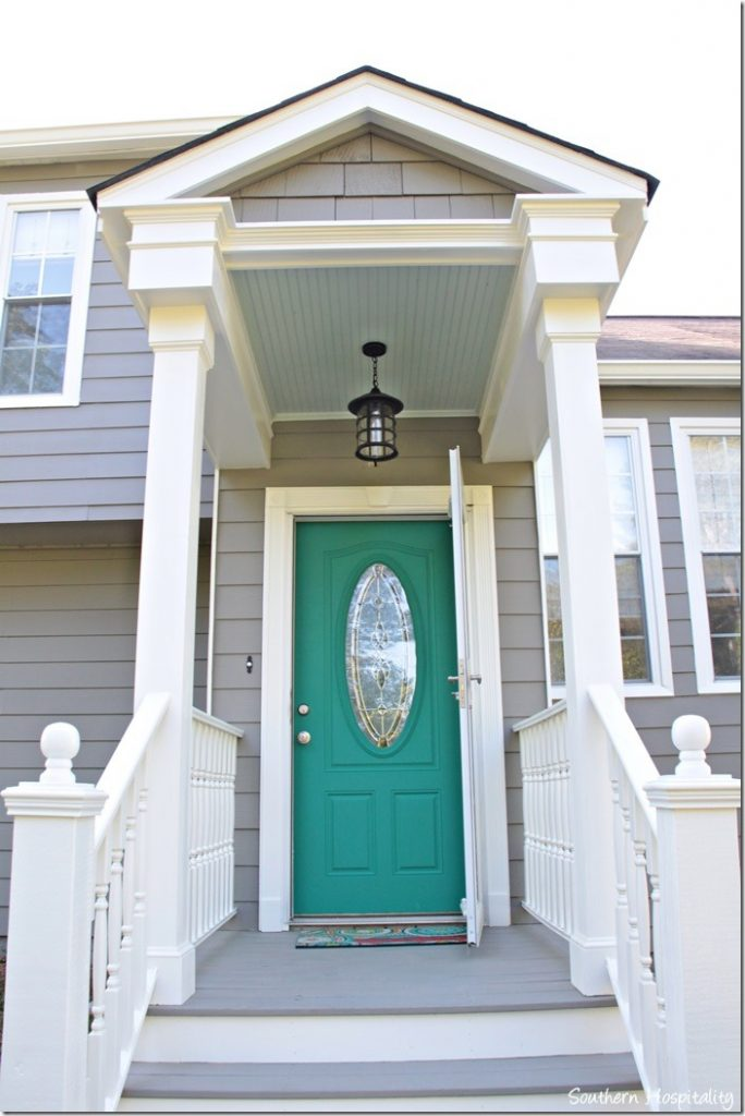 Pop Of Color On The Front Door Southern Hospitality