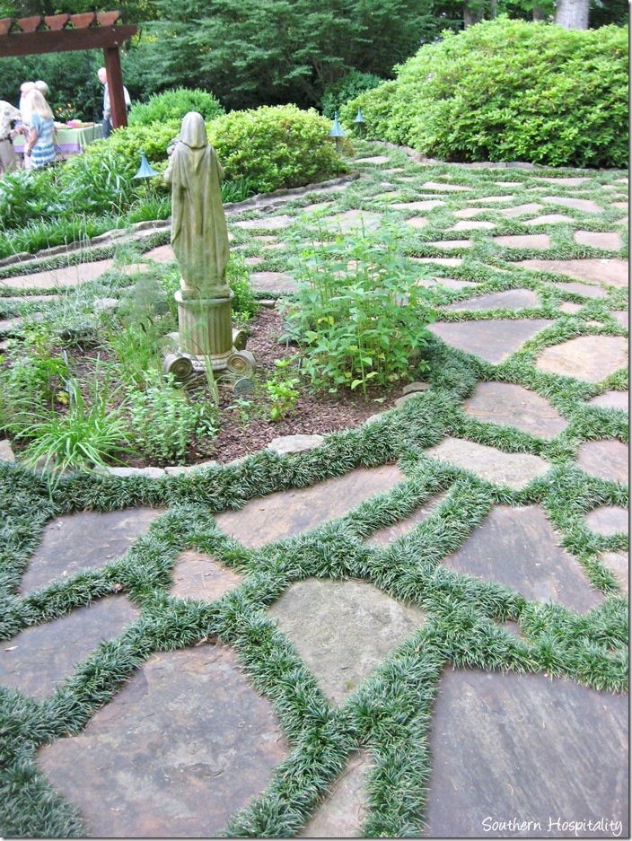 Flagstone Patio With Stone : I went to a garden party southern hospitality