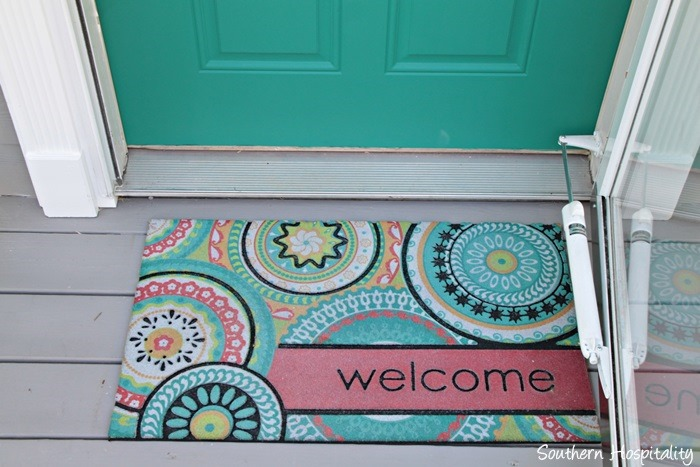 Lovely Target Welcome Mat. Front Door After
