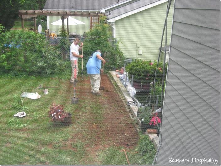 dirt covering drain