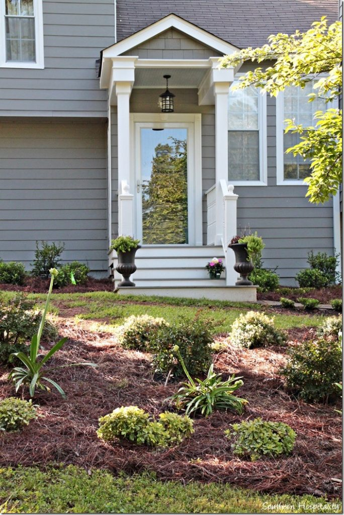 front porch landscaped