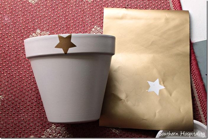 stars on clay pot