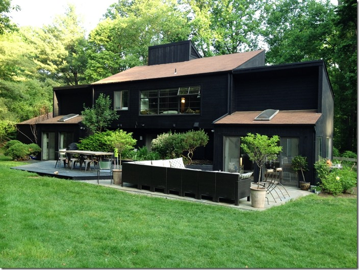 black exterior patio