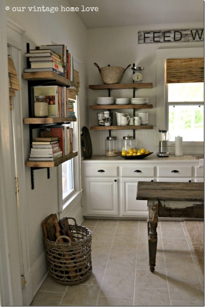 Feature friday our vintage home love southern hospitality for Shelving in kitchen