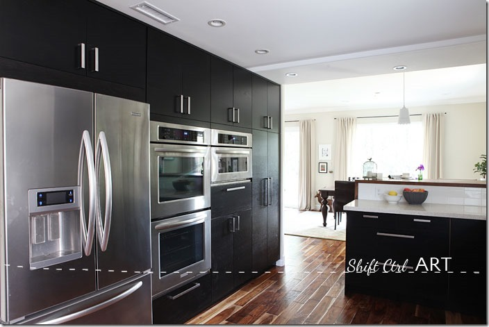 Kitchen-remodel-after-IKEA-Caesar-stone-Acacia-hardwood-DIY-16