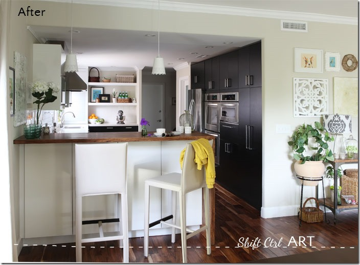 Kitchen-remodel-after-IKEA-Caesar-stone-Acacia-hardwood-DIY